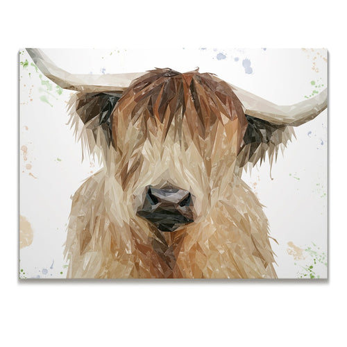 """Bernadette"" The Highland Cow Skinny Canvas Print"