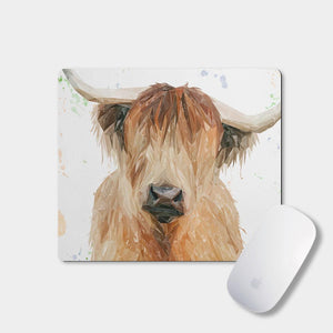 """Bernadette"" The Highland Cow Mousemat - Andy Thomas Artworks"