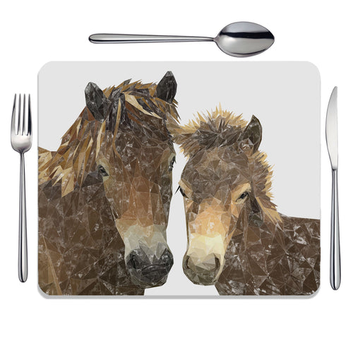 """The Exmoor Pair"" Emoor Ponies Placemat"