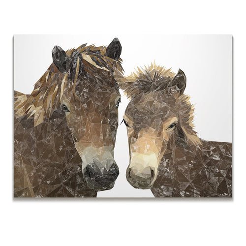 """The Exmoor Pair"" Emoor Ponies Skinny Canvas Print"