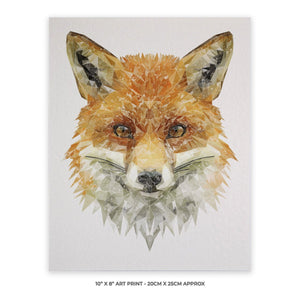 """The Fox"" 10"" x 8"" Unframed Art Print - Andy Thomas Artworks"