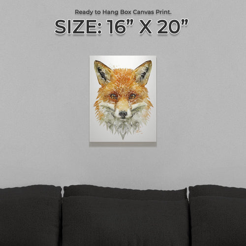 """The Fox"" Small Canvas Print"