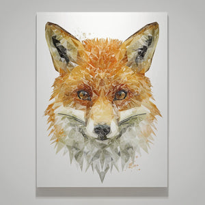 """The Fox"" Small Canvas Print - Andy Thomas Artworks"