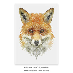 """The Fox"" A2 Unframed Art Print - Andy Thomas Artworks"