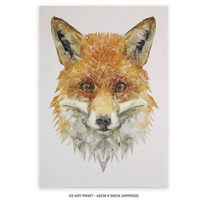 """The Fox"" A3 Unframed Art Print - Andy Thomas Artworks"