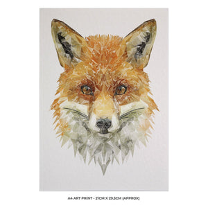 """The Fox"" A4 Unframed Art Print - Andy Thomas Artworks"