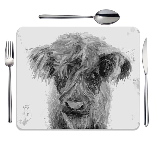 """Peeps"" The Highland Calf (B&W) Placemat"