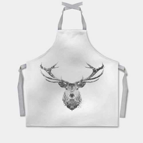"""The Stag"" (B&W) Apron"