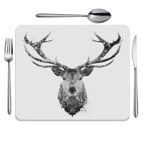"""The Stag"" (B&W) Placemat"
