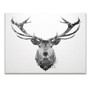 """The Stag"" (B&W) Skinny Canvas Print"