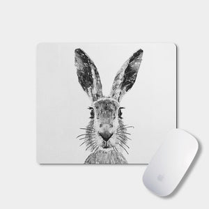 """The Hare"" (B&W) Mousemat - Andy Thomas Artworks"