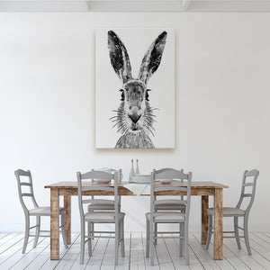 """The Hare"" (B&W) Canvas Print - Andy Thomas Artworks"