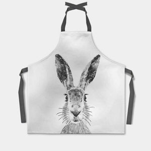 """The Hare"" (B&W) Apron - Andy Thomas Artworks"