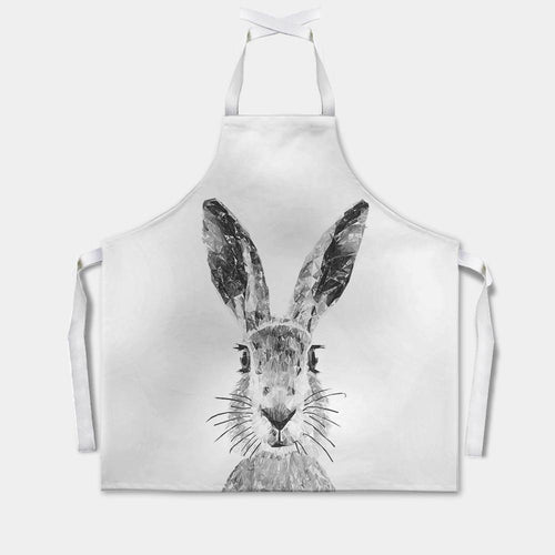 """The Hare"" (B&W) Apron"