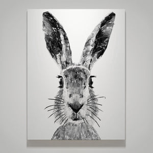 """The Hare"" (B&W) Medium Canvas Print - Andy Thomas Artworks"