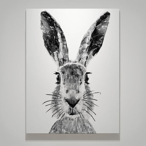 """The Hare"" (B&W) Medium Canvas Print"