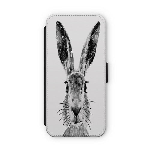 """The Hare"" (B&W) Flip Phone Case"