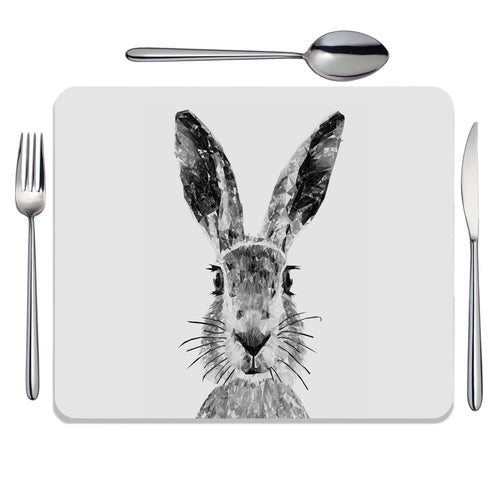 """The Hare"" (B&W) Placemat"
