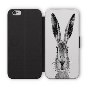 """The Hare"" (B&W) Flip Phone Case - Andy Thomas Artworks"