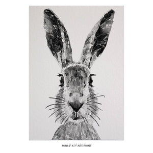 """The Hare"" (B&W) 5x7 Mini Print - Andy Thomas Artworks"