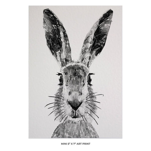 """The Hare"" (B&W) 5x7 Mini Print"