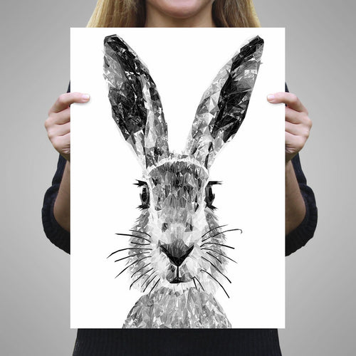 """The Hare"" (B&W) A3 Unframed Art Print"