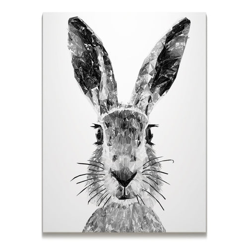 """The Hare"" (B&W) Skinny Canvas Print"