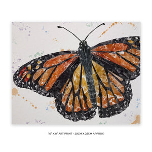 """The Butterfly"" 10"" x 8"" Unframed Art Print - Andy Thomas Artworks"