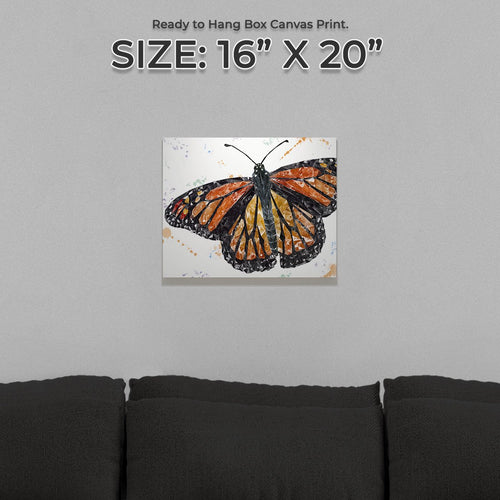 """The Butterfly"" Small Canvas Print"