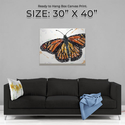 """The Butterfly"" Large Canvas Print"