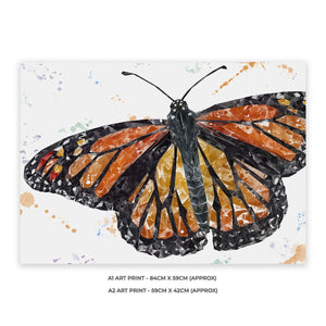 """The Butterfly"" A1 Unframed Art Print - Andy Thomas Artworks"