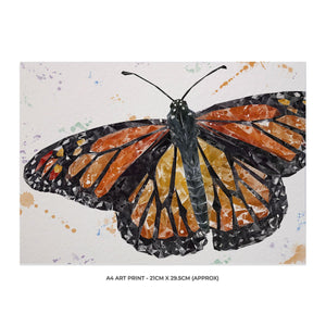 """The Butterfly"" A4 Unframed Art Print - Andy Thomas Artworks"