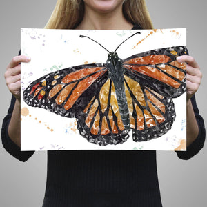 """The Butterfly"" A2 Unframed Art Print - Andy Thomas Artworks"