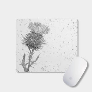 """The Thistle"" (B&W) Mousemat - Andy Thomas Artworks"