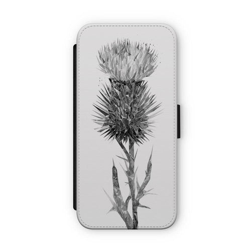 """The Thistle"" (B&W) Flip Phone Case"