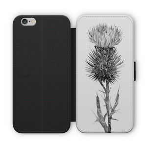 """The Thistle"" (B&W) Flip Phone Case - Andy Thomas Artworks"