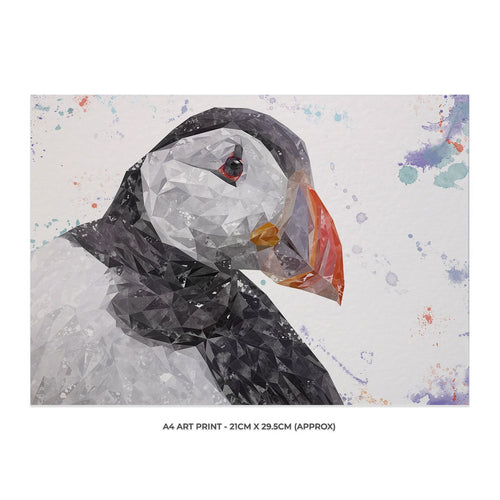 """The Puffin"" A4 Unframed Art Print"