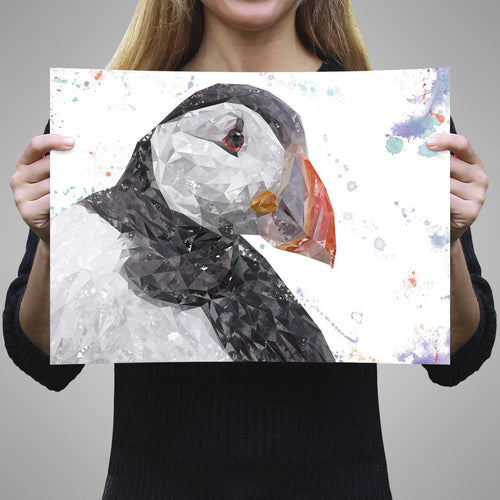 """The Puffin"" A3 Unframed Art Print"