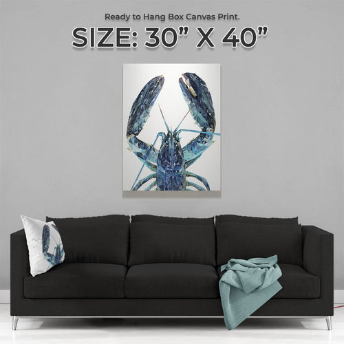 """The Blue Lobster"" Large Canvas Print"