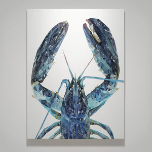 """The Blue Lobster"" Medium Canvas Print - Andy Thomas Artworks"