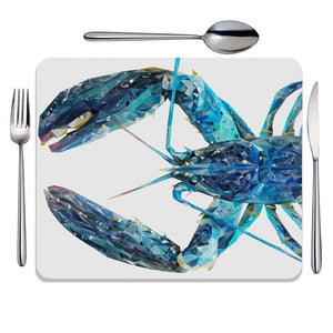 """The Blue Lobster"" Placemat - Andy Thomas Artworks"