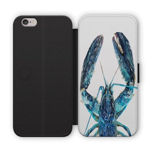 """The Blue Lobster"" Flip Phone Case - Andy Thomas Artworks"