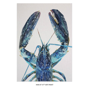 """The Blue Lobster"" 5x7 Mini Print"