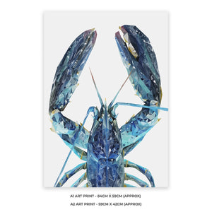 """The Blue Lobster"" A2 Unframed Art Print - Andy Thomas Artworks"