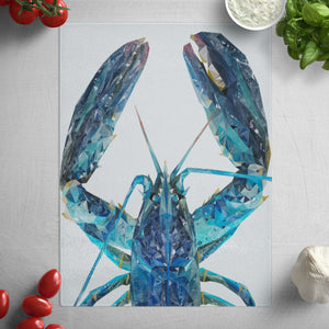 """The Blue Lobster"" Glass Worktop Saver"