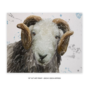 """Stanley"" The Herdwick Ram 10"" x 8"" Unframed Art Print - Andy Thomas Artworks"
