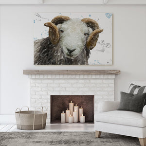 """Stanley"" The Herdwick Ram Massive Canvas Print - Andy Thomas Artworks"