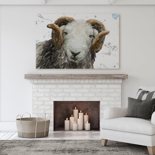 """Stanley"" The Herdwick Ram Massive Canvas Print"