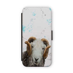"""Stanley"" The Herdwick Ram Flip Phone Case - Andy Thomas Artworks"