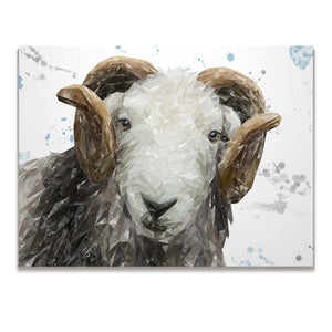 """Stanley"" The Herdwick Ram Skinny Canvas Print - Andy Thomas Artworks"